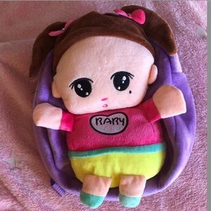 plush baby backpack with star zip ☆